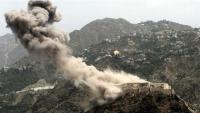 التحالف يشن غارات عنيفة على مواقع للحوثيين شمال شرقي تعز